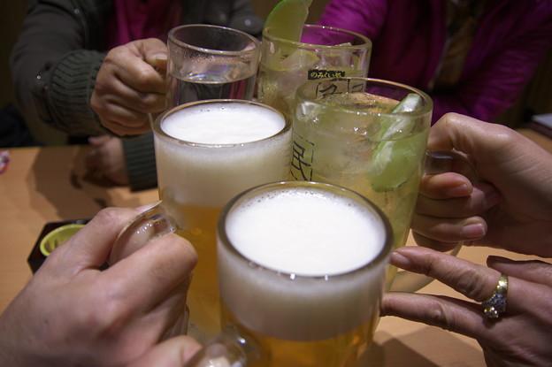 打上の乾杯