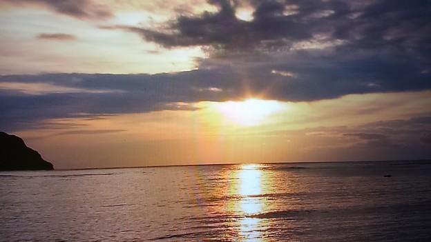 Photos: 水平線の夕陽