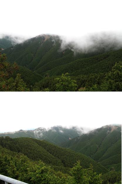 写真: IMG_9398ごまさんスカイタワーより 雲かかる山