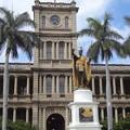 Photos: カメハメハ大王像と裁判所