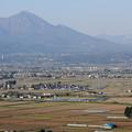 磐梯山と只見線
