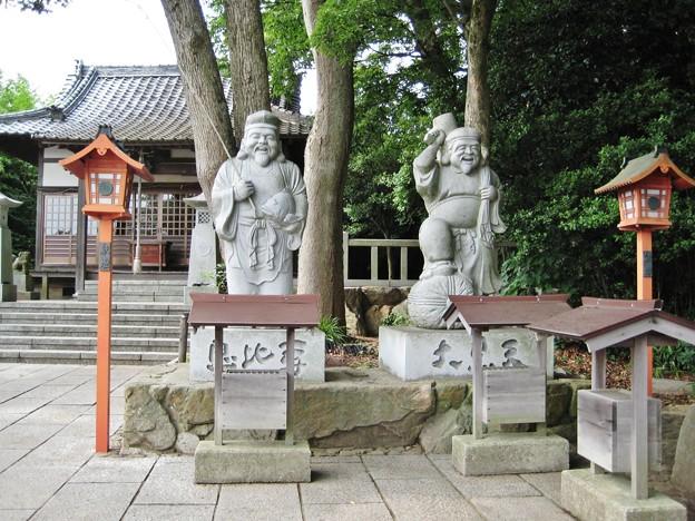恵比寿と大黒天像.屋島寺