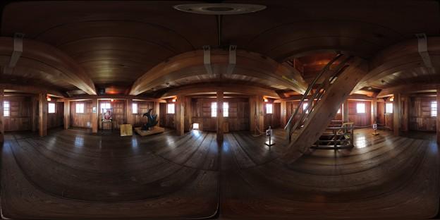 2012年2月19日 掛川城 360度パノラマ写真(2) 三階内部 1000