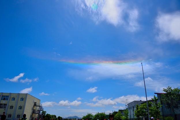 彩雲 はじめて見ました!