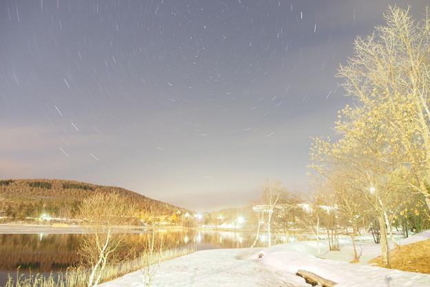 Photos: コペルニクス的フォト   ほぼ動かないポラリス北極星を中心にまわります!!これぞ日周運動