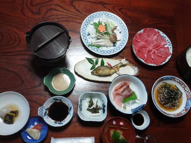 岐阜的食事、こんな豪華な食事は年に数回