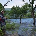 写真: 息子の釣り