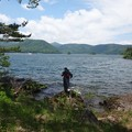 写真: 桧原湖にて