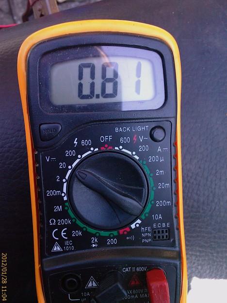 約3000rpm時 電圧 Dトラレギュ