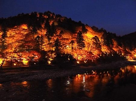 香嵐渓:山が燃える~~