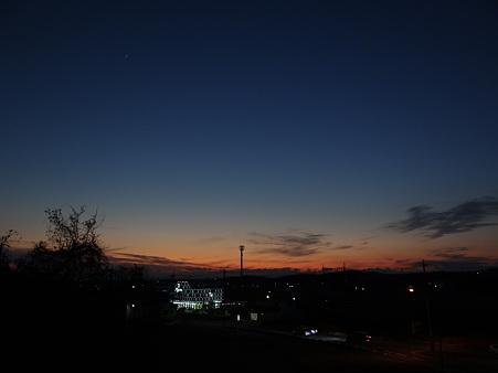 静かな夕景
