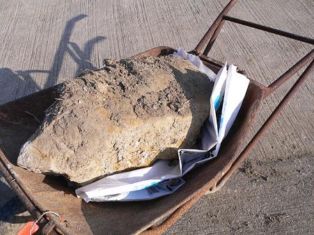 ハウス建設予定地の岩