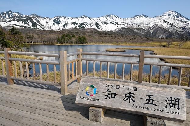 一湖と知床連山