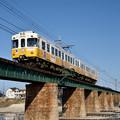 Photos: 香東川鉄橋を渡る琴平線1100形