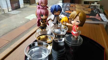 それでは飲み比べいきます♪ 左側から、「吟田川」、「北雪梅酒」、...