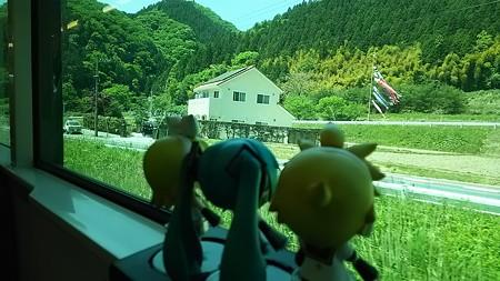 矢祭山→下野宮間。 レン:「いよいよ県境か!」 リン:「茨城県だ...