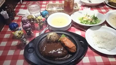秋葉原のヨドバシ階上のレストランにて夕食なう♪