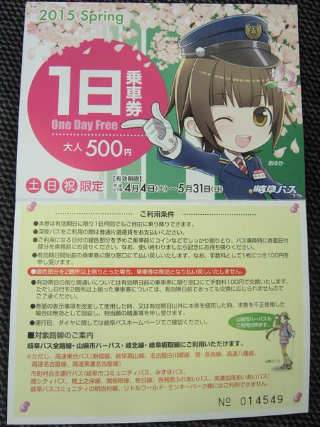 岐阜バス 1日乗車券