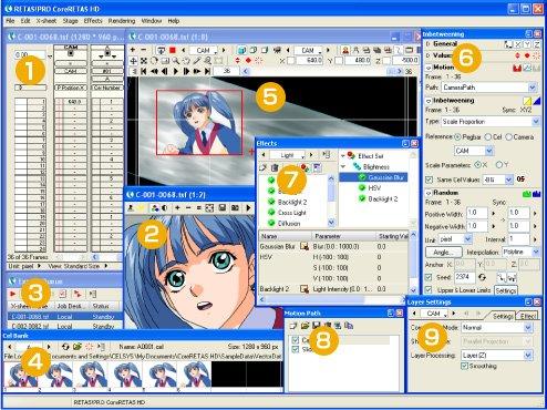 【二维动画制作软件】(RETAS)6.5.8中文版