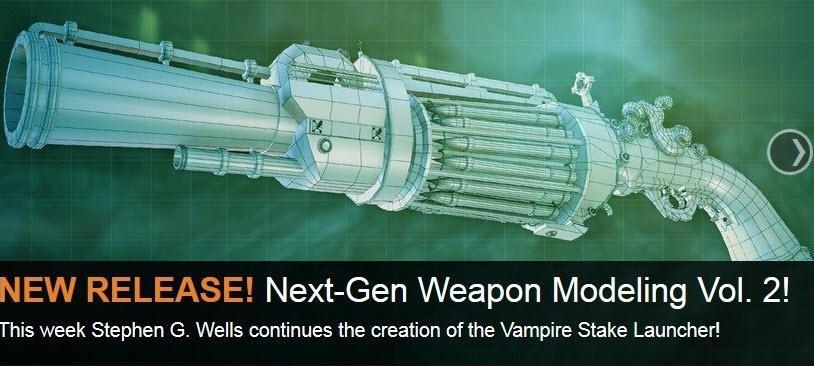 3ds max与Zbrush次世代游戏武器材质贴图技术视频教程1-4季(3DMotive Next-Gen Weapon Texturing)