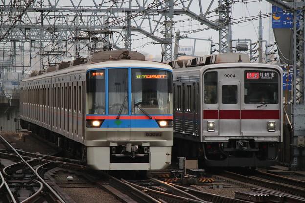 三田線6300形 6309F・東上線9000系 9104F