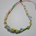 写真: 夏のカラフルビーズのネックレス