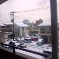 Photos: 今朝の新潟市内は雪景色です。