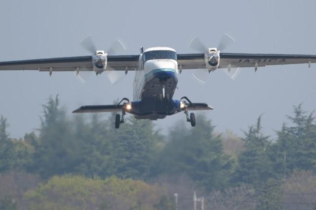 新島行き201便離陸