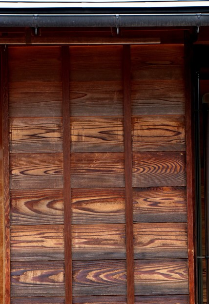 日本庭園の壁板