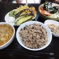 写真: 今日の朝ご飯定食