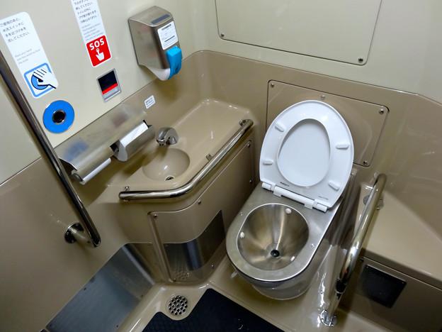 JR西日本227系電車 車いす対応トイレ multipurpose toilet
