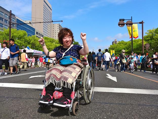まりちゃんヽ(・∀・)ノひろしまフラワーフェスティバル2015 平和大通り