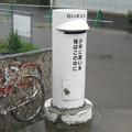 徳島本線牛島駅前の白ポスト、向かって左。(2015年)