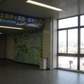 岡山県倉敷市の山陽本線新倉敷駅の白ポストと周囲。改札階のはずれの壁際。(2015年)