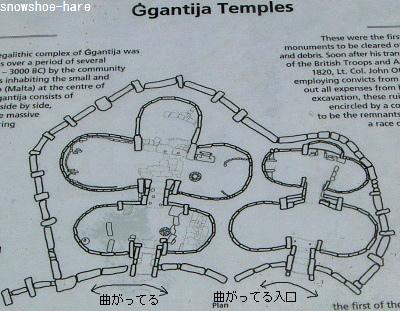 神殿の説明板