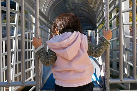 2011.12.05 大池公園 姫 ローラーすべり台×5本