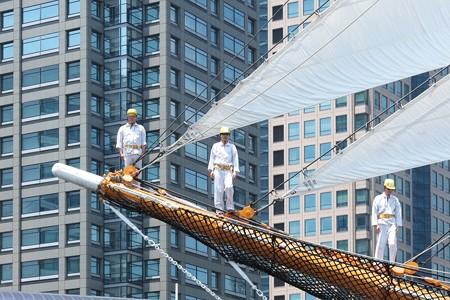2015.05.17 みなとみらい 日本丸 総帆展帆 舳先