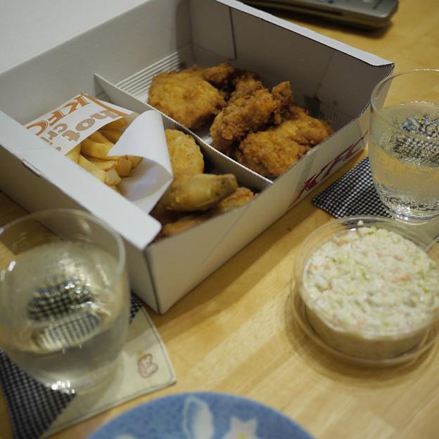 夕食はKFC