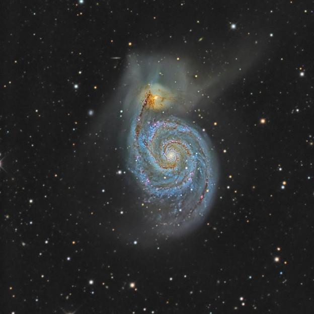 子持ち星雲 M51
