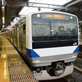 上野東京ライン常磐線直通1233M 品川11番発車前