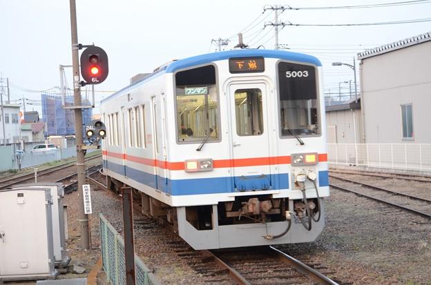 関東鉄道キハ5000形下館行き水海道発車!