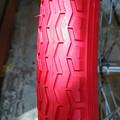 Photos: ミニベロ 赤いタイヤ