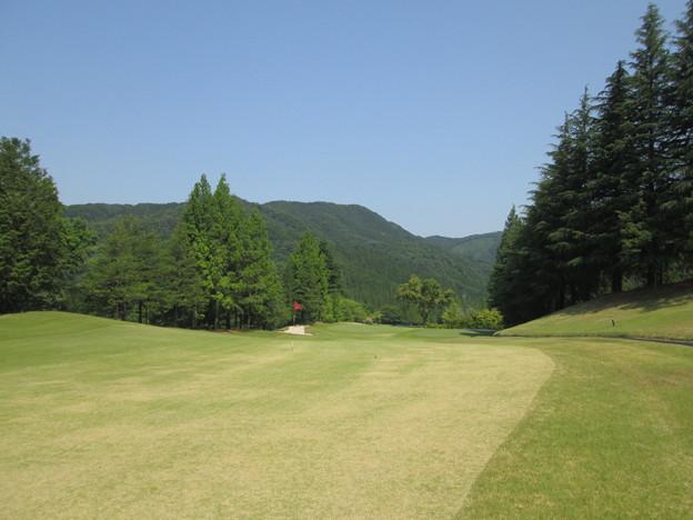 写真: 足利城ゴルフ倶楽部14番ミドルホール画像セカンド地点2015.5.27