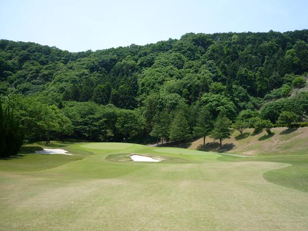 写真: 足利城ゴルフ倶楽部2番ミドルホール画像2015.5.27