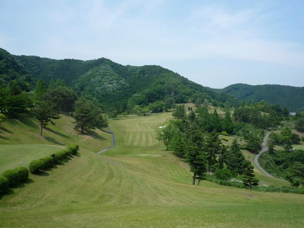 写真: 足利城ゴルフ倶楽部9番ロングホール画像2015.5.27