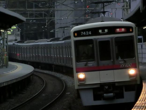 京王7000+9000系(7424F+9705F) 特急新宿行き