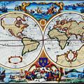 写真: 中世の世界地図・模写