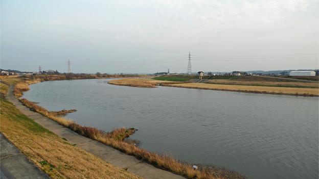 山鹿・惣門から見る菊池川