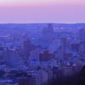 夕焼けに染まって 金沢市街並み