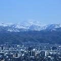 金沢市 街並みと白山